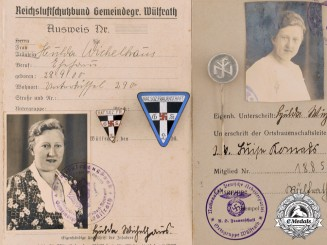 Germany, Third Reich. A Lot of Membership Badges and Cards to Hulda Wichelhaus
