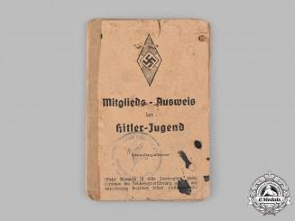 Germany, HJ. A HJ Membership Card to Gerhard Schulz