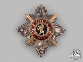 Belgium, Kingdom. An Order of Leopold, I Class Grand Cross Star with Swords, by G.Wolfers, c.1914