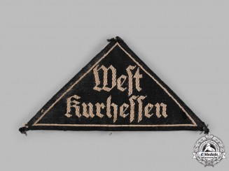 Germany, BDM. A League of German Girls (BDM) West Kurhessen District Sleeve Patch