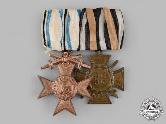 Germany, Imperial. A Bavarian Merit Cross Medal Bar