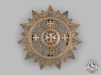 Ethiopia, Empire. An Order of the Star of Ethiopia, Grand Cross Star, by B.A.Sevadjian, c.1950