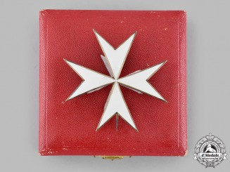 International. An Order of Merit of the Order of Saint John of Jerusalem, of Rhodes and of Malta, Breast Star, by Gardino