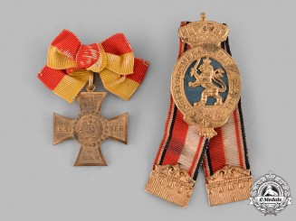 Hesse, Grand Duchy. A Pair of Hessian Veterans Association Badges