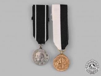 Germany, Weimar Republic. Two Miniature Freikorps Awards