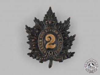 Canada, Dominion. A Queen's Own Rifles of Canada Cap Badge, c.1890