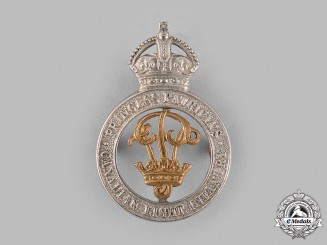Canada. A Princess Patricia's Canadian Light Infantry Officer's Cap Badge, c.1918