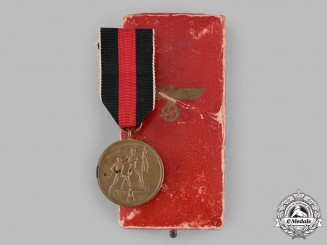 Germany, Third Reich. A Sudetenland Medal, with Case, by the Vienna Mint
