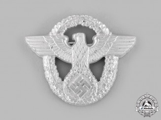 Germany, Ordnungspolizei. A Visor Cap Eagle