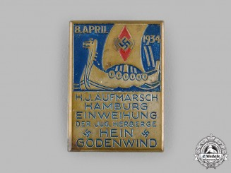Germany, HJ. A 1934 HJ Hamburg Deployment Badge