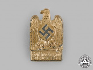 Germany, HJ. A 1933 Youth Festival Event Badge