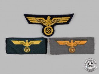 Germany, Wehrmacht. A Lot of Wehrmacht Uniform Eagle Insignia