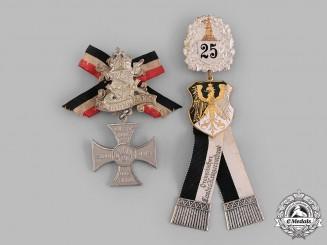 Germany, Imperial. A Pair of Veterans Association Membership Badges
