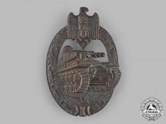 Germany, Wehrmacht. A Panzer Assault Badge, Bronze Grade, by Adolf Scholze