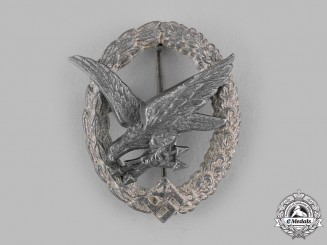Germany, Luftwaffe. A Radio Operator &  Air Gunner Badge by Berg & Nolte