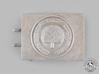 Germany, RAD. A Reich Labour Service (RAD) EM/NCO's Belt Buckle by Overhoff & Cie