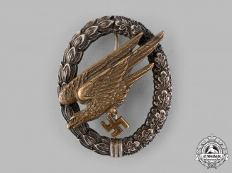 Germany, Luftwaffe. A Fallschirmjäger Badge, by C.E. Juncker