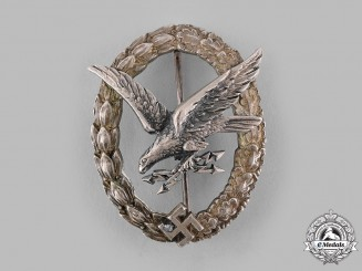 Germany, Luftwaffe. A Radio Operator & Air Gunner Badge, Narrow Wreath Variant, by C.E. Juncker