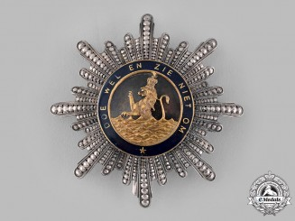 Netherlands, Kingdom. An Order of the Union, Grand Cross Star, c.1880