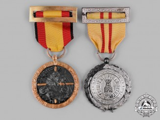 Spain, Fascist State. Two Awards & Decorations