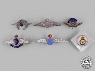 United Kingdom. A Lot of Six Air Force Sweetheart Badges