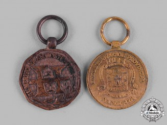 Spain, Franco Period. A Lot of Two Miniatures Civil Medals c.1970