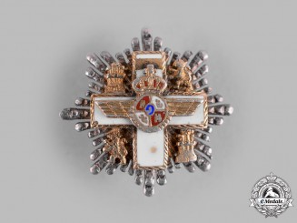 Spain, Constitutional Monarchy. A Miniature Order of Aeronautical Merit, II Class Breast Star c.1975