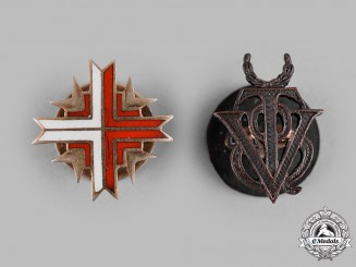 Spain, Franco Period. A Lot of Two Miniature Insignia