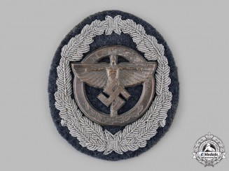Germany, NSFK. A Rare National Socialist Flyers Corps Sponsoring Member's Sleeve Badge