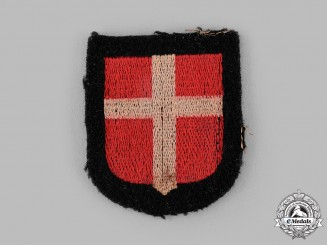 "Germany, SS. A 24th SS Panzergrenadier Regiment ""Denmark"" Sleeve Shield"