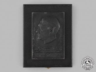 Germany, Third Reich. A Führer Plaque for 40 Years of Service to the State, with Case