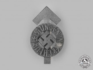 Germany, HJ. A HJ Proficiency Badge in Silver by Karl Wurster
