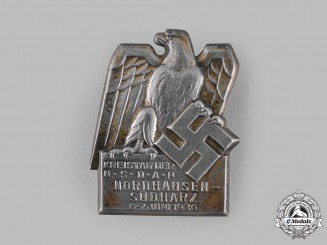 Germany, NSDAP. A 1936 NSDAP Nordhausen-Südharz District Meeting Badge