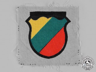 Germany, Wehrmacht. A Lithuanian Territorial Corps Volunteer's Sleeve Shield