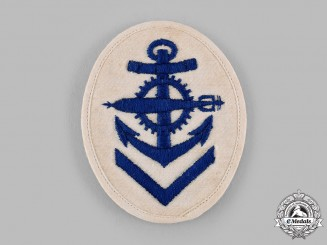 Germany, Kriegsmarine. A Torpedo Mechanic Summer Uniform Sleeve Insignia