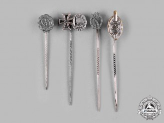 Germany, Wehrmacht. A Lot of Second War Period Wehrmacht Award Stick Pins