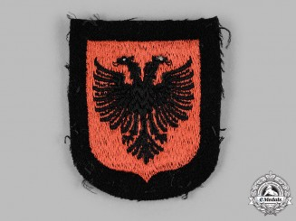 "Germany, SS. A 21st Waffen Mountain Division of the SS ""Skanderbeg"" Arm Shield"