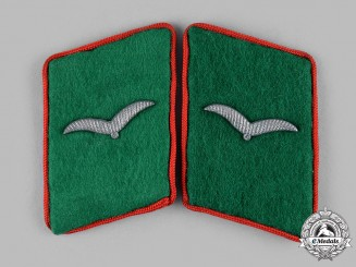 Germany, Luftwaffe. A Set of Attached Troops Flak/Artillery Flieger Collar Tabs
