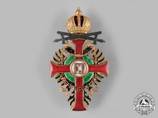 Austria, Imperial. An Order of Franz Joseph, Officer's Cross with Swords & Lower Grade War Decoration (Rothe Copy)