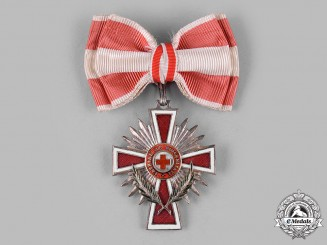 Austria, I Republic. An Honour Decoration of the Red Cross, II Class Cross, with Decoration, for Ladies (Collectors Copy)
