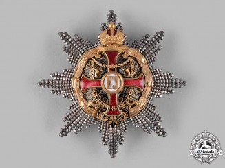 Austria, Imperial. An Order of Franz Joseph, Grand Cross Star, with Lower Grade War Decoration (Rothe Copy)