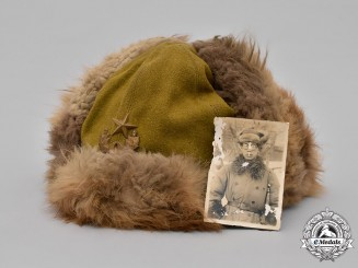 Japan, Imperial. An Imperial Army Winter Fur Cap