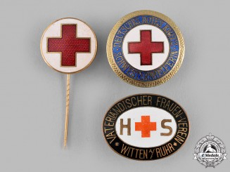 Germany, Weimar Republic. A Lot of German Red Cross (DRK) Membership Badges