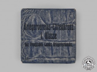 Germany, Weimar Republic. A Presentation Case for a Prussian Warrior Association I Class Honour Cross