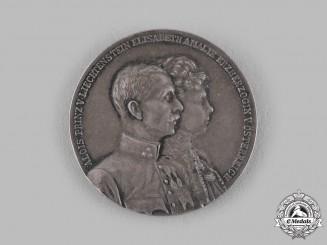 Austria, Imperial. A Prince Aloys of Liechtenstein & Archduchess Elisabeth Amelie Medal, by Gebrüder Schneider