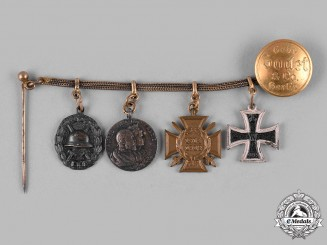 Germany, Imperial. A Miniature Medal Chain by Godet & Co.