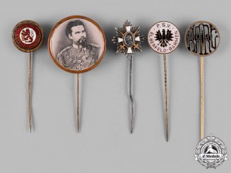 Germany, Weimar Republic. A Lot of Commemorative Stick Pins