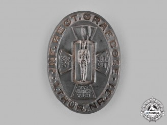 Germany, Third Reich. A 1938 Thuringian Infantry Regiment Anniversary Badge