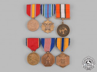 United States. A Lot of Six Medals & Awards