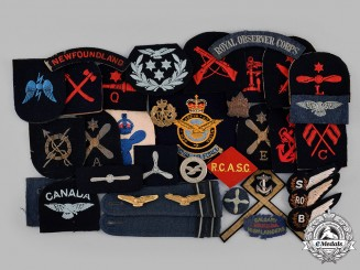Canada, United Kingdom.  A Grouping of Patches and Insignia